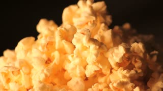 Rotating Popcorn Close Up