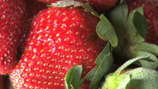 Rotating Strawberries Zoomed In