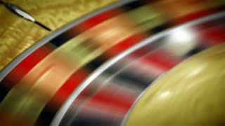 Roulette Table Spinning with Ball in Closeup Shot 4