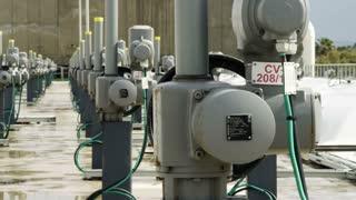 Row Of Pumps At Factory