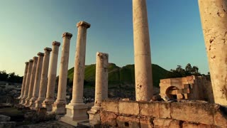 Rows of Columns at Beit Shean Ruins in Israel 2