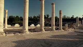 Rows of Columns at Beit Shean Ruins in Israel 3