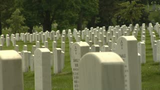 Rows of Gravestones Arlington National Cemetery