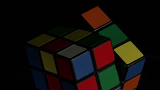 Rubiks Cube Spinning Clockwise 2