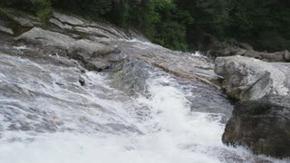 Rushing Mountain Stream With Rapids, Blue Ridge Mountains