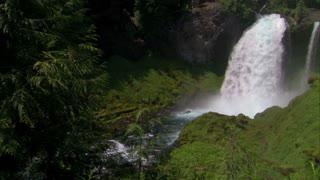 Sahalie Falls Summer Setting