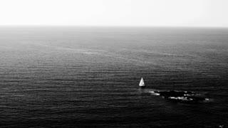 Sailboat near island