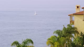 Sailboat Off Palos Verdes Coast