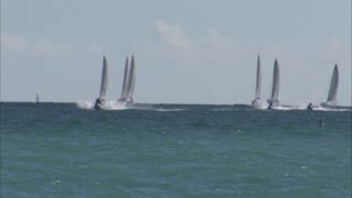 Sailboats and Waverunners