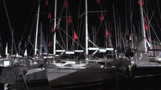 Sailboats Docked at Night 3