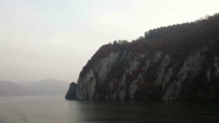 Sailing Away From Cliff Edge in Romania