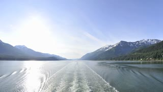 Sailing Down Alaskan Waterway