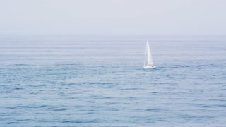 Sailing On Shimmering Water