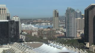 San Diego City Skyline Daytime Convention Center