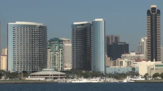 San Diego City Skyline on Waterfront