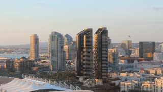 San Diego City Skyline Time Lapse Day to Early Dusk