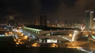 San Diego City Skyline TIme Lapse Night to Day with Convention Center 3