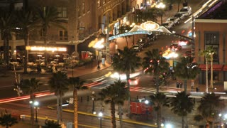 San Diego Gaslamp District Time Lapse Nightscape