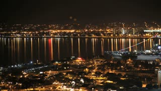 San Diego Harbor and City Time Lapse Night