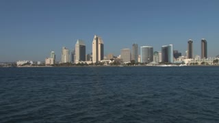San Diego Harbor City Skyline in Distance