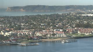 San Diego homes residences abutting waterfront