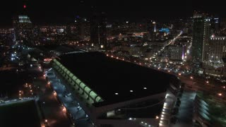 San Diego Skyline and Convention Center Nightscape