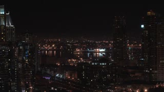 San Diego Skyline and Harbor Nightime