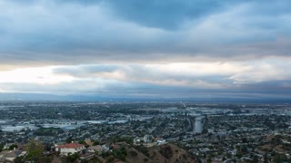 San Fernando Valley Day To Night Sunset Timelapse