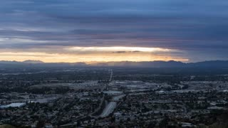 San Fernando Valley near Los Angeles Day To Night Timelapse