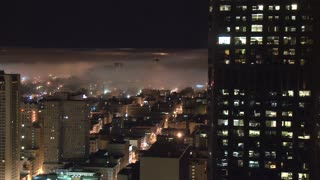 San Francisco Buildings Enveloped In Fog