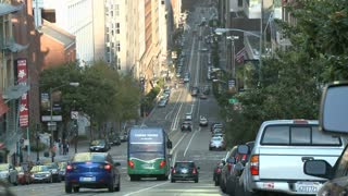 San Francisco Hilly Road Timelapse