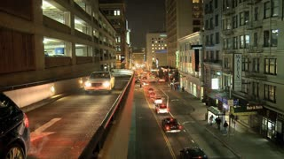 San Francisco Night Cars Timelapse