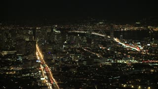 San Francisco Night Traffic Car Timelapse