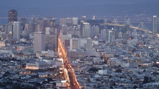San Francisco Skyline Timelapse Day To Night