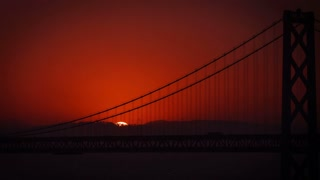 San Francisco Sunrise Bay Bridge Time Lapse