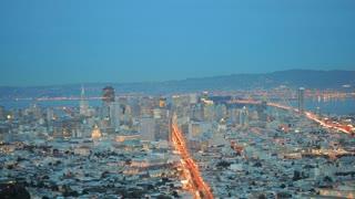 San Francisco Twin Peaks Timelapse