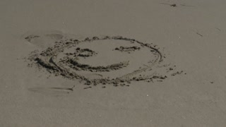 Sand Happy Face