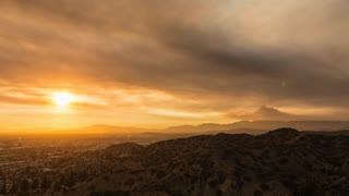 Santa Clarita Sand Fire 2016 Day To Night Sunset Timelapse from Sun Valley, CA