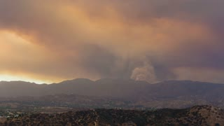 Santa Clarita Sand Fire Smoke Timelapse From Sun Valley, CA