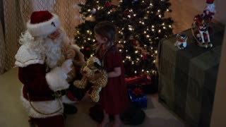 Santa Claus tells girl to go back to sleep