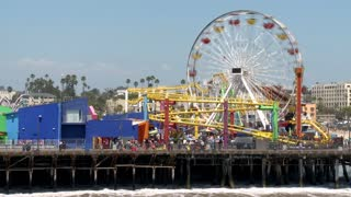 Santa Monica California Pier Ferris Wheel Timelapse