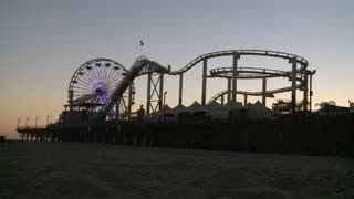 Santa Monica Pier Late Evening