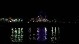 Santa Monica Pier Night Lights Timelapse