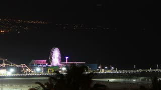 Santa Monica Pier Night Time Lapse 3
