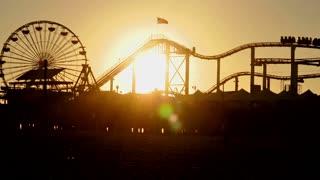 Santa Monica Pier Roller Coaster Timelapse