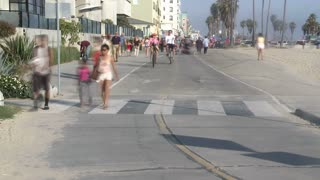 Santa Monica Sidewalk Traffic Timelapse