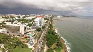 Santo Domingo Shore Line Descending Aerial