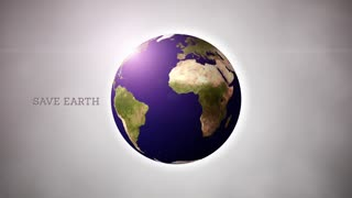 Save earth concept video