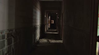 Scary Hallway in Abandoned Building