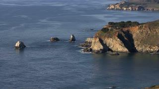 Scattered Boulders Off Coast
